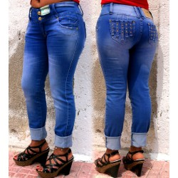 Jeans Colombianos Levanta Cola marca Joy Staz / Pantalones Vaqueros Push Up