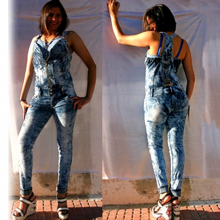 Enterizo Vaquero Levanta Cola / Overall Denim Push Up Wonder Horma Colombiana