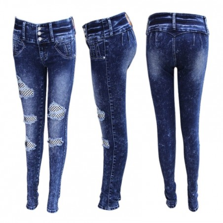 Vaqueros Push Up Baratos Destroyed Jeans Levanta Cola Horma Colombiana