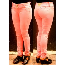 Pantalones Push Up en color rosa palo
