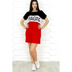 Camiseta Larga Tricolor Imagine