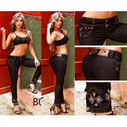 Jeans colombianos negros marca Bumm